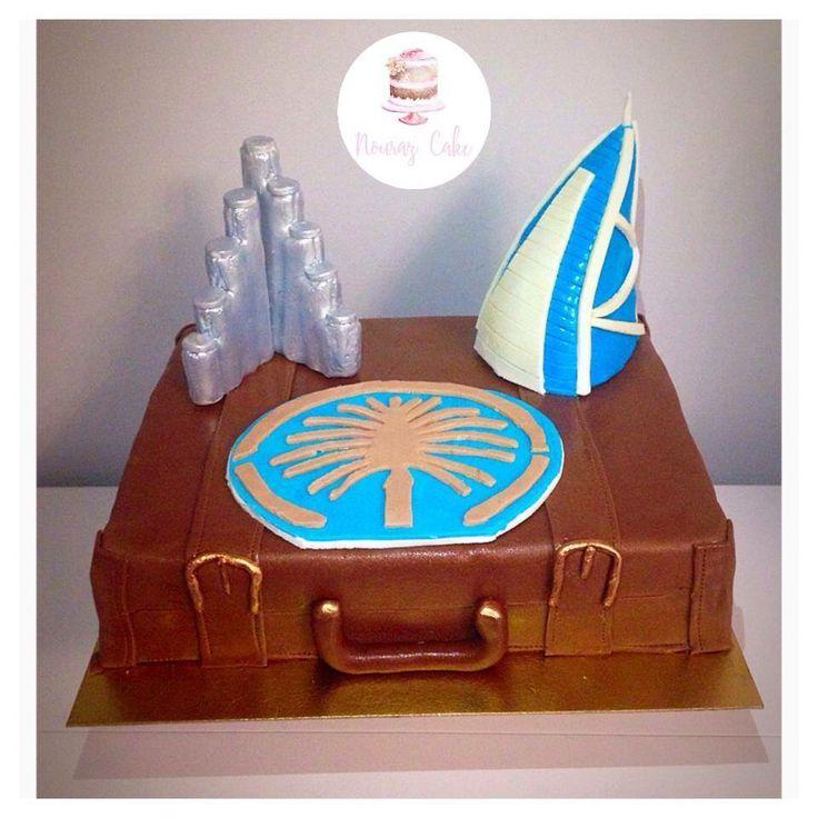 Dubaï cake Gateau sur le thème de Dubaï   Page Facebook nouraz cake Facebook nouraz sayoun Instagram @nourazcake  Burj Khalifa Burj al arab travel cake Dubaï Palm tutoriel pâtisserie design
