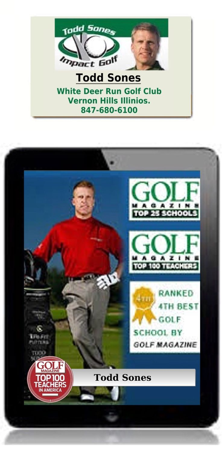 Todd Sones is a PGA of America Top 50 golf instructor, and the operator of the Golf Magazine 4th ranked golf school in America.  Todd is one of the elite coaches in the USA, his students include PGA players Paul Goydos, Shaun Micheel (USPGA champion)  Steve Jones (US open champion, Robert Gamez, Scott McCarron, and many more.  Todd is based at the Todd Sones Impact golf school, White Deer Run golf club Vernon Hills Illinios.