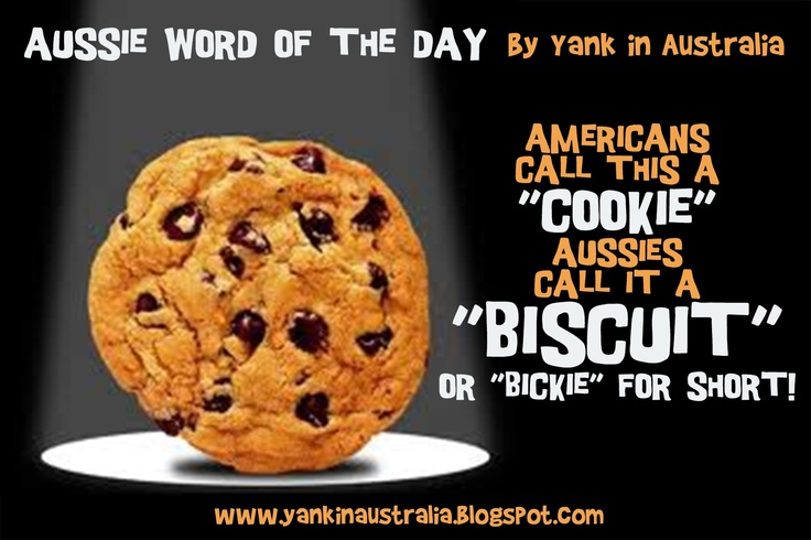 """Americanscall this a """"cookie""""Aussiescall it a """"Biscuit""""or """"bickie"""" for short! #yankinaustralia #australia"""