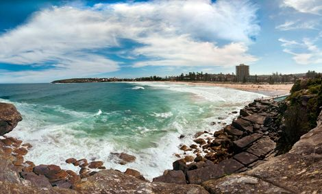 Panorama of Manly by Nigel Howe. CC BY 2.0.