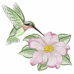 Rippled Hummingbirds 11(Sm) machine embroidery designs