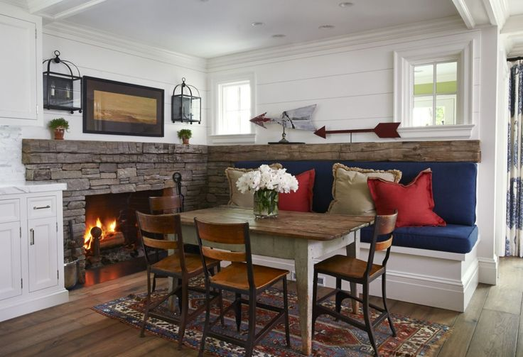 This cozy dining nook was completed by Brooks & Falotico-New Canaan. # ...