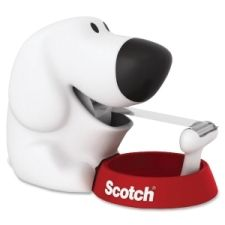 Scotch Tape Dispenser is modeled after a friendly dog to be a loyal friend for your desktop and to provide stylish, easy, one-handed dispensing