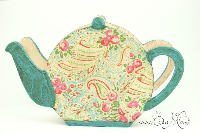 Teapot napkin holder