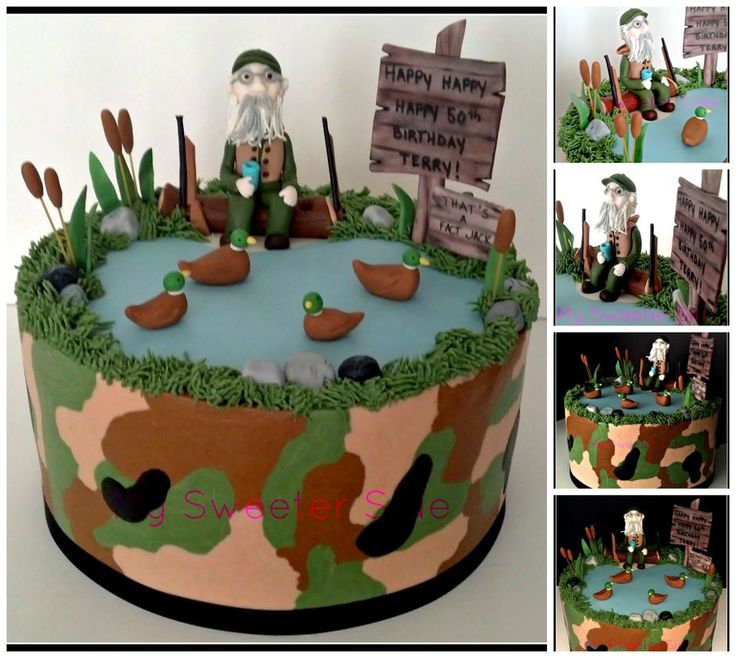 duck dynasty cakes | Duck Dynasty themed birthday cake. Camo is done in buttercream and the ...