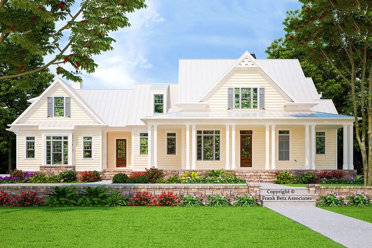 Plan 710047btz Classic 4 Bed Low Country House Plan With