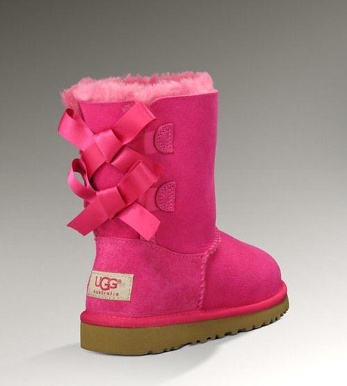 I hope I am rich...Shoes, Bows Ugg, Ugg Boots, Pink Ugg, Pink Bows, Hot Pink, Baby Girls, Kids, Baileys Bows