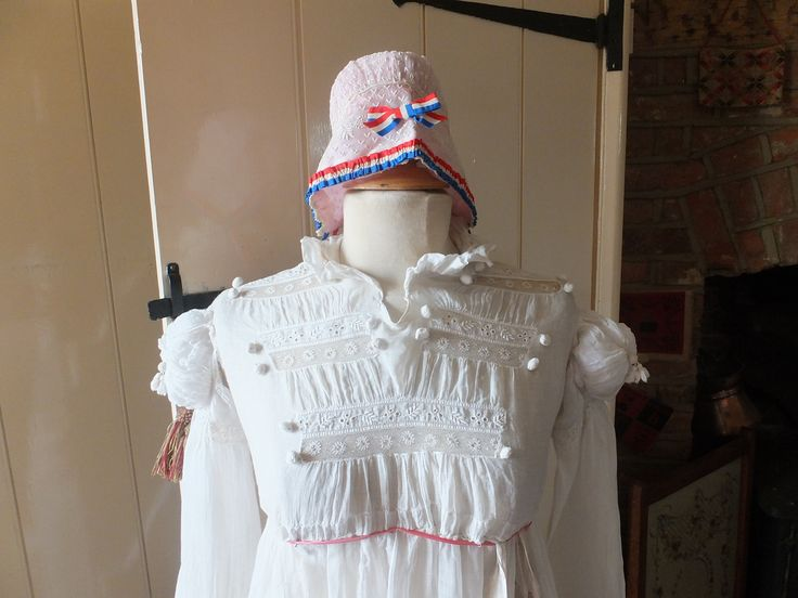 Regency gown & French cap at Poppies Cottage