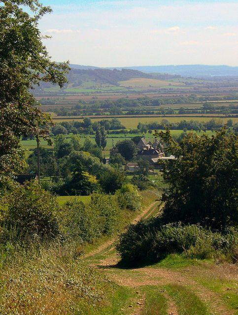 The lane to Kemerton, Worcestershire, England