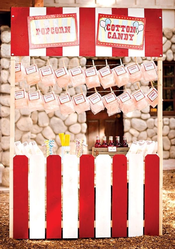 Cotton Candy Stand for Carnival Party www.spaceshipsandlaserbeams.com
