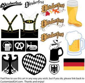 Oktoberfest Clipart - free use, multi-format (including svg)