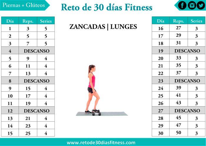 Reto zancadas para piernas y glúteos perfectos | Reto de 30 días Fitness