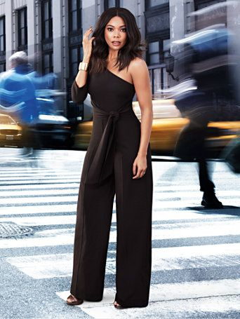 Shop 7th Avenue - One-Shoulder Jumpsuit. Find your perfect size online at the best price at New York & Company.