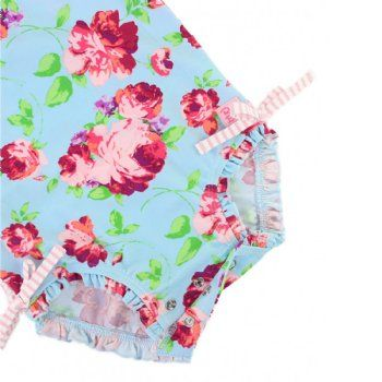 Baby Swimsuit One Piece Floral Ruffle Butts Matilda