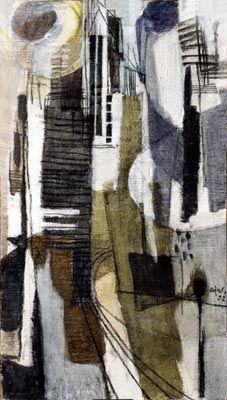 Ricercarii Afro Basaldella 1952 pittura, olio su tela  INV.: 3083 larghezza: 50 altezza: 90