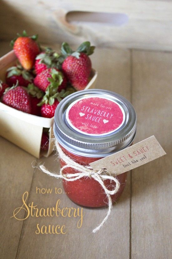 Strawberry Sauce Recipe (With Free Printable Labels)