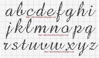 Edilse Bordados: Monograma de borboletas em ponto cruz!!! (6)