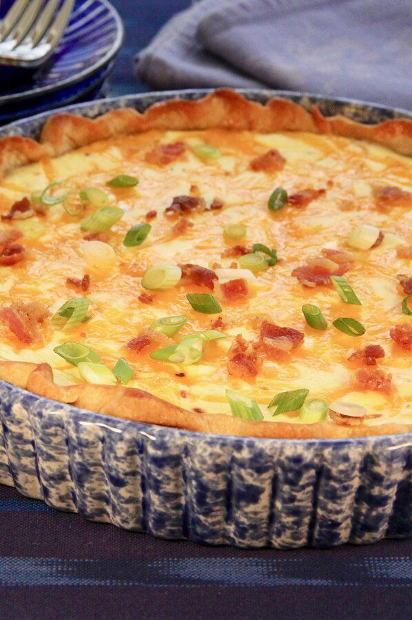 Bacon Cheese And Caramelized Onion Quiche Recipe In 2020 Caramelized Onions Recipes Food