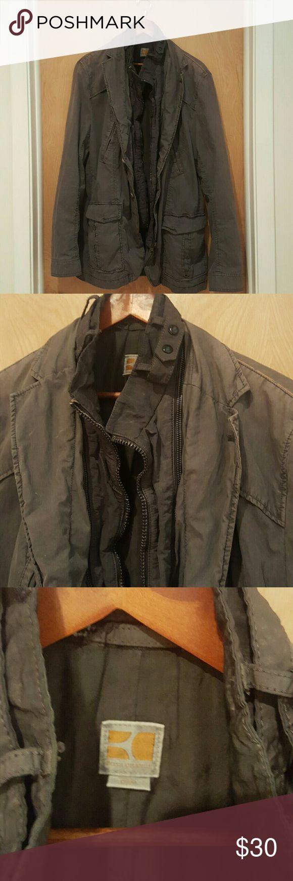 Boss Orange Utility Jacket Boss utility jacket. Dark grey. Gently worn. BOSS ORANGE Jackets & Coats Military & Field