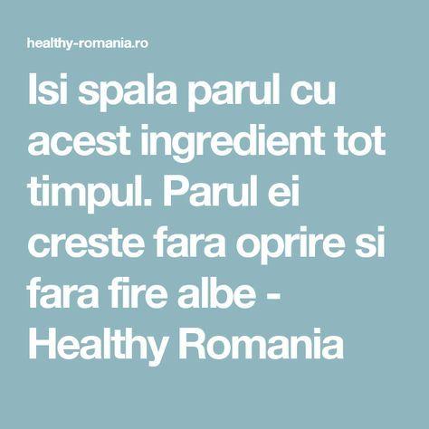 Isi spala parul cu acest ingredient tot timpul. Parul ei creste fara oprire si fara fire albe - Healthy Romania