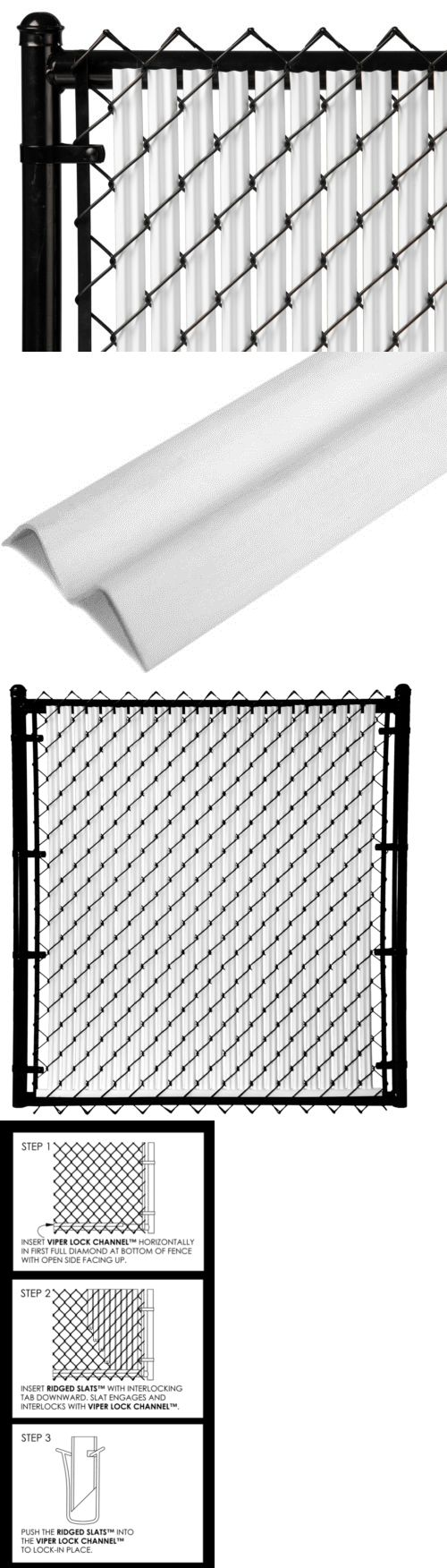 Privacy screen for chain link fence ebay - Chain Link Fencing 180984 Slat Depot White 5ft Ridged Slat For Chain Link Fence