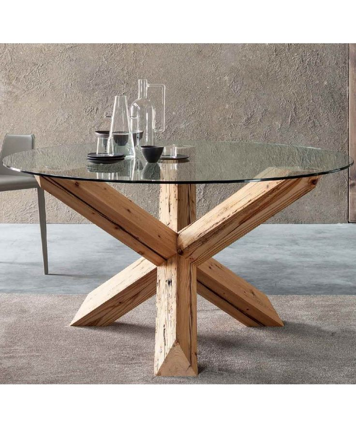 Tavoli rotondi in legno Travo