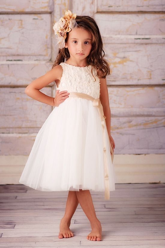 Flower girl dresses from Zola