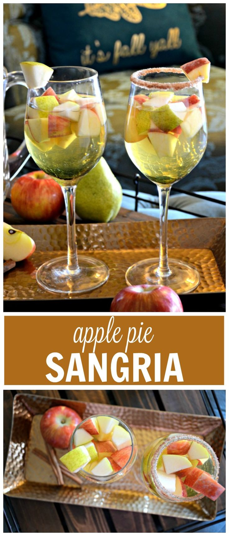 Saturday Sips: Apple Pie Sangria for Autumn - | The Shopping MamaThe Shopping…