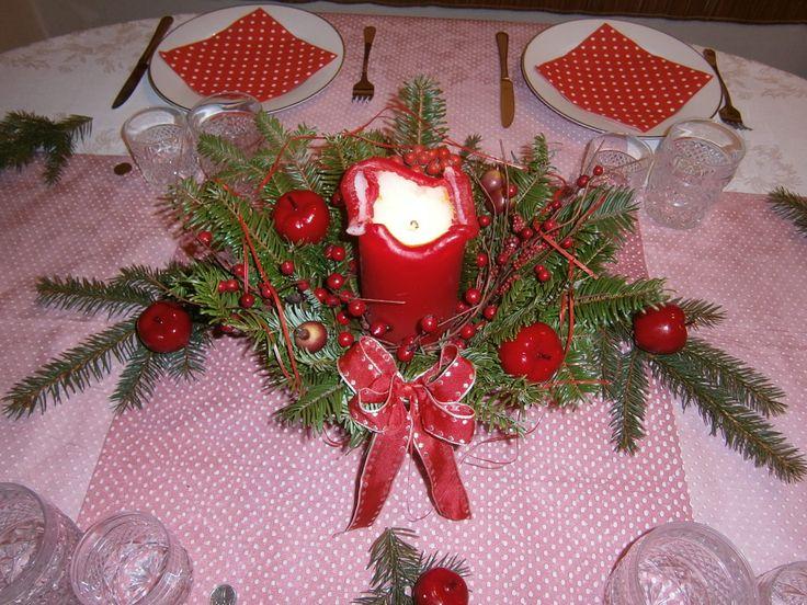 Vánoční stůl 2016 detail