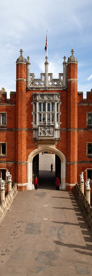 Hampton Court Palace located in the London Borough of Richmond upon Thames. England