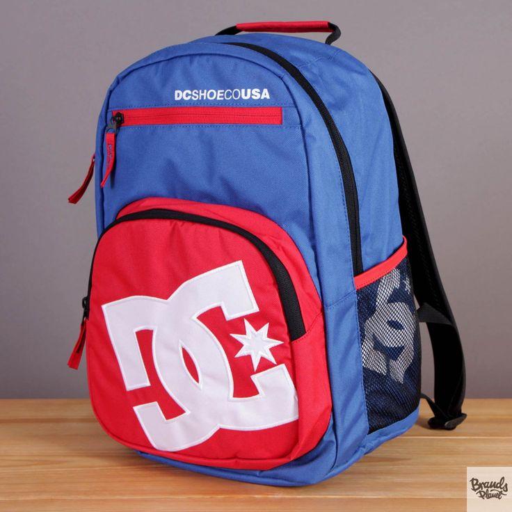 Plecak DC Detention Nautical Blue - kolor niebiesko-czerwony / www.brandsplanet.pl / #dc shoes #skateboarding