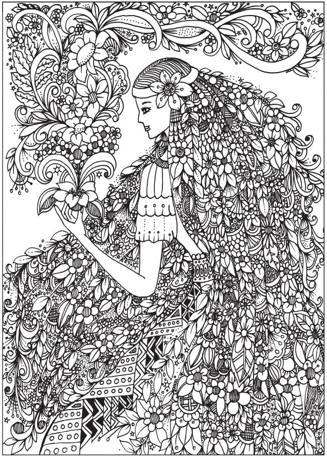 2740 best fashion coloring images on Pinterest | Coloring books ...