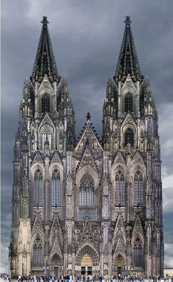Cologne Cathedral C 1248 1880 Cathedral Architecture Cologne Cathedral Gothic Style Architecture