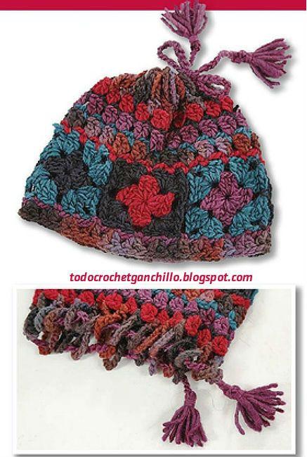 Gorro y cuello sin fin con grannys crochet / paso a paso | Todo crochet