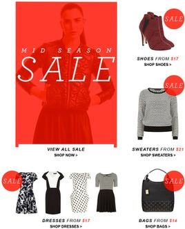 Dorothy Perkins Mid Season SALe from $14 up