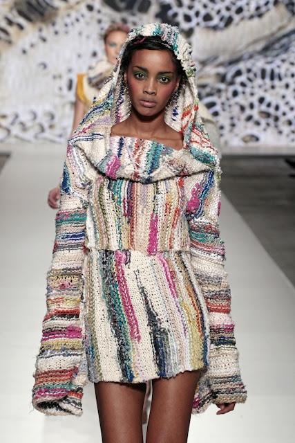 Zaida Adriana Goveo Balmaseda, showing at Amsterdam Fashion Week, Feb 2012, in the Green Fashion Competition