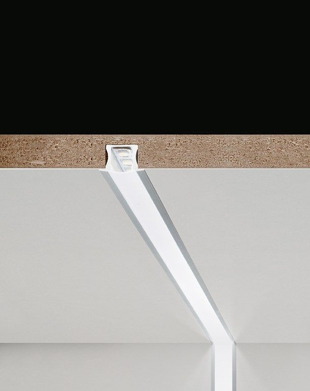 Barras luminosa LED encastrable de aluminio extrudado TRIBECA by PANZERI
