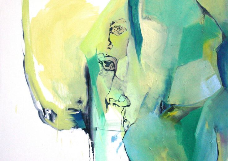 Abstract - Green Figurative Expressionism