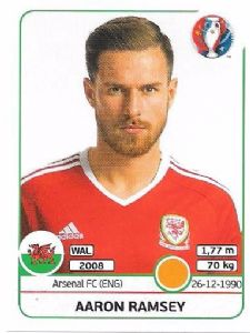 194. Aaron Ramsey - Wales (Panini Euro 2016 Sticker Collection)