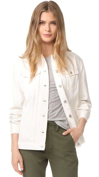 MADEWELL The Oversized Jean Jacket. #madewell #cloth #dress #top #shirt #sweater #skirt #beachwear #activewear
