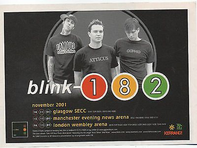 """#Blink 182 - original + rare tour #dates #advert 6"""" by 4"""" , View more on the LINK: http://www.zeppy.io/product/gb/2/182342905641/"""