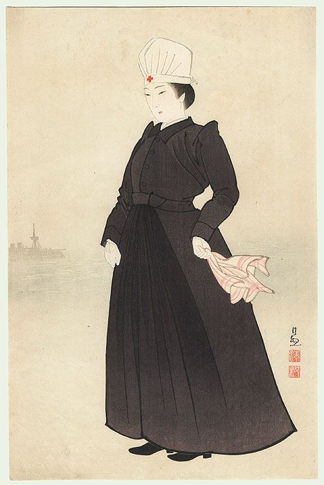 Meiji Era Nurse by Kiyochika (1847 - 1915)