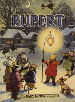 Rupert Bear, created by Mary Tourtel in the London paper, the Daily Express