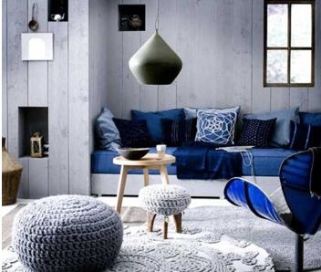 2014 Home Decorating Color Trends Blue Accents With Gray Walls Colors Different Shades Of For Contrasted On