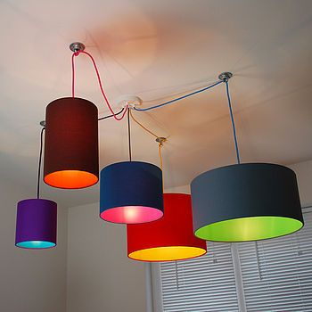 15 best lighting images on pinterest lamp shades fabric lampshade pick and mix drum lampshade choice of colours aloadofball Image collections