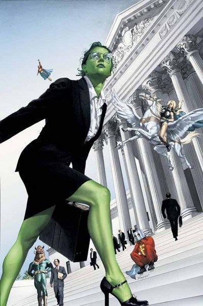 She Hulk - superhuman lawyer!
