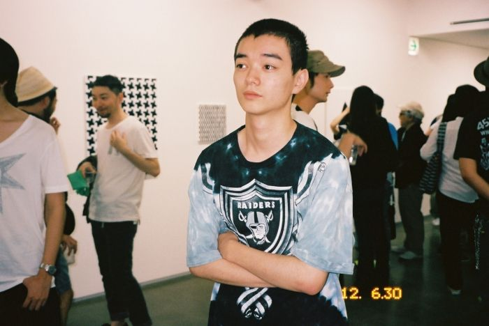 Japanese actor SHOTA SOMETANI (who received the Marcello Mastroianni Award for Best New Young Actor at the Venice Film Festival for his work in Himizu in 2011) at TOMOO GOKITA's exhibition at Taka Ishii Gallery, Tokyo. Photo Chikashi Suzuki
