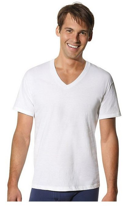 hanes men 39 s tall tagless comfortsoft v neck undershirt 3