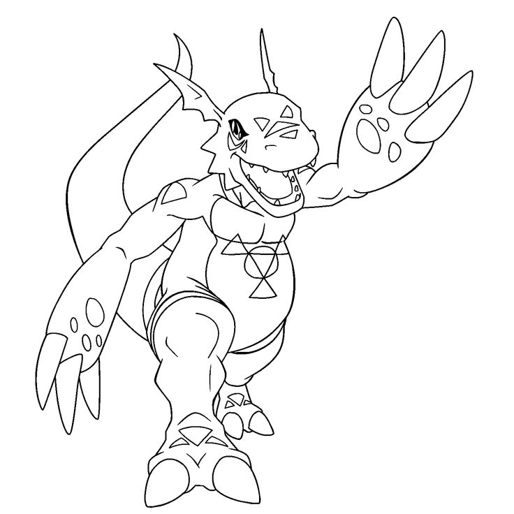 Free Digimon Coloring Page Pages 38 Printable