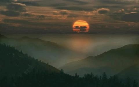 Sunset in the Appalachian Mountains